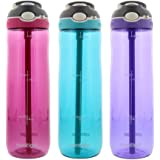Contigo SYNCHKG111815 Water Bottles, 3 Pack, Red, Purple, Blue