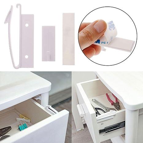 4Pcs Safety Lock Toddler Kid Baby Child Drawer Cupboard Cabinet Door Fridge New