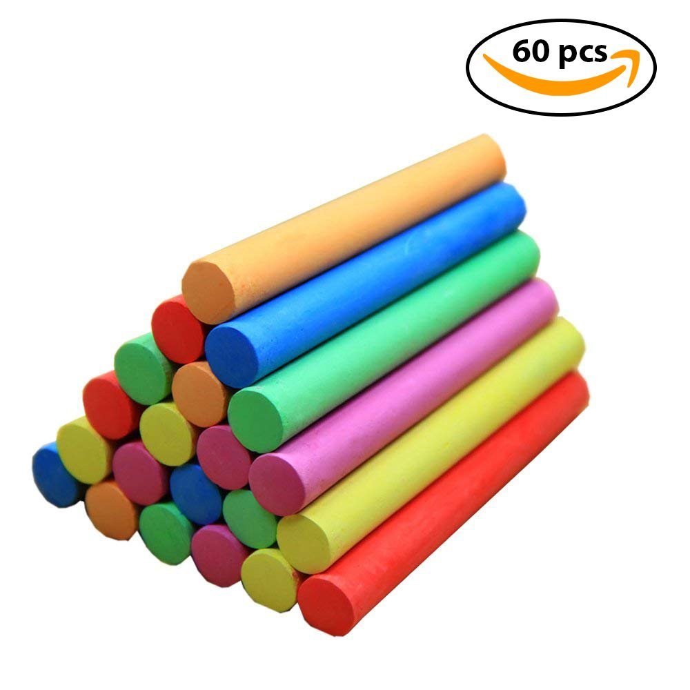 NXT Dustless Multicolor Chalks (60 Counts) Premium Quality, Non Toxic, Easily Washable and Eco Friendly Chalks by NXT (Image #2)