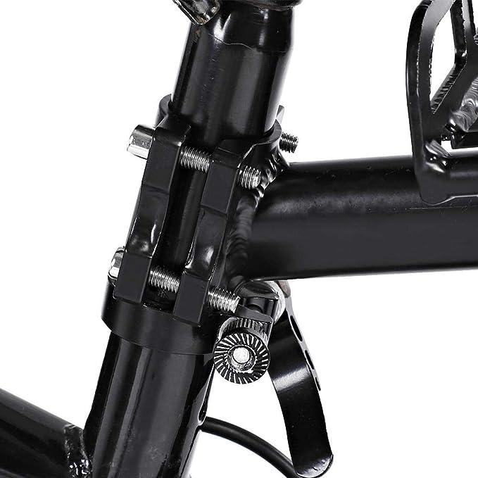 sourcing map Portabotellines de Bicicleta de Monta/ña MTB Soporte Portabid/ón de Aleaci/ón Negro