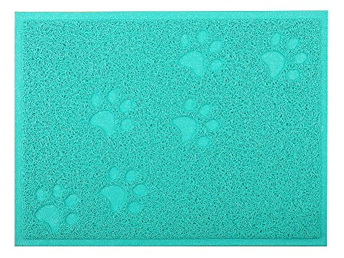 Cat Litter Box Debris Catcher Mat 16x12 Inches,4 Colors Available (Green)