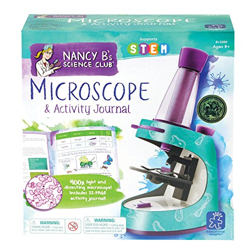 Educational Insights Nancy B's Science Club Microscope and 22-Page Activity Journal, 400x Magnification, Science for…