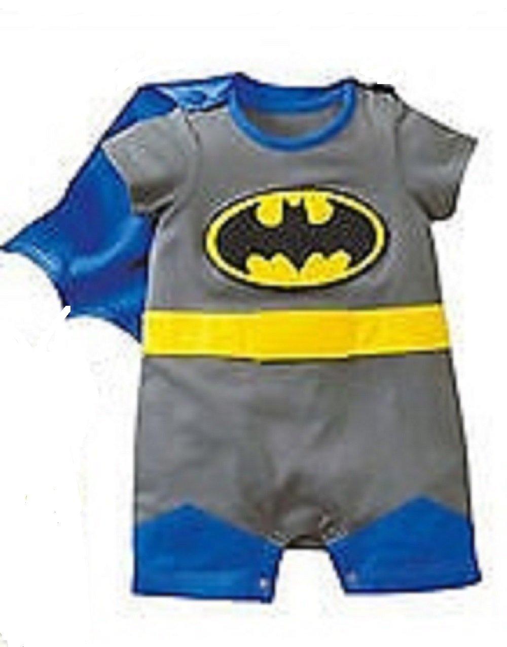 **NEW** CUTE DISNEY BABY ROMPERS BATMAN SUPERMAN 4 SIZES 0-24mths