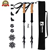 LYDUO Walking Poles Telescopic 100% Carbon Fiber Nordic Trekking Poles for Men and Women Hiking Walking Traveling, Walking Pole Telescopic Climbing Sticks with Soft EVA & All Terrain Accessories