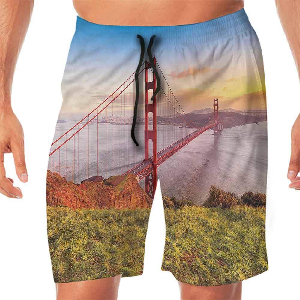 ScottDecor Quick-Dry Beach Mens Shorts USA,Civil Engineering Theme Travel Juniors Shorts