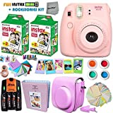 FujiFilm Instax Mini 8 Camera PINK + Accessories KIT for Fujifilm Instax Mini 8 Camera includes: 40 Instax Film + Custom Case + 4 AA Rechargeable Batteries + Assorted Frames + Photo Album + MORE