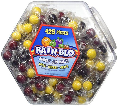 (Rain-blo Bubble Gum Balls, 425 Count Jar)