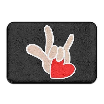 Amazon Outdoor Asl American Sign Language I Love You Floor Mats