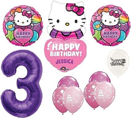 FLAG Kid/'s Birthday Decorations. Hello Kitty Supershape Foil Latex Balloons
