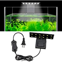 Senzeal Aquarium LED Light 110V 6W Aquarium Planted Clip Lamp 600LM for 8-15 Inch Fish Tank