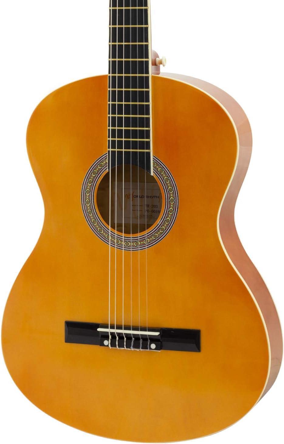 World Rhythm - Guitarra clásica 4/4, Guitarra española natural para principiantes, tamaño completo, para niños mayores de 12 años