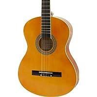 World Rhythm Guitarra clásica 4/4 - Guitarra española natural para principiantes, guitarra de tamaño completo, óptima…