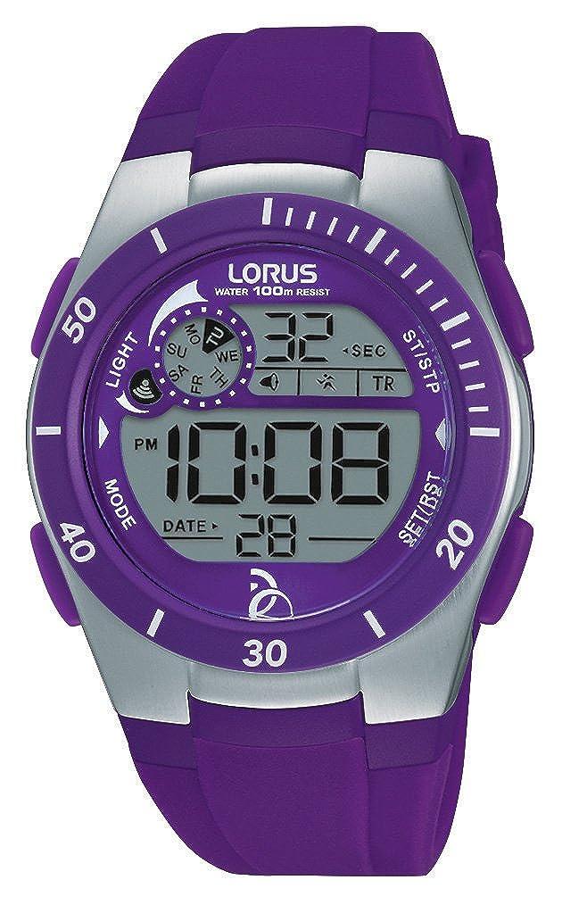 Relojes Lorus Unisex-Reloj Novak Djokovic Foundation Cuarzo Digital Caucho R2381KX9