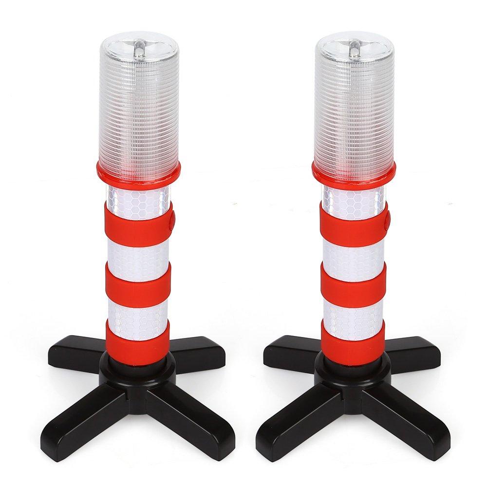 LTC® 2unidades) LED Luz de advertencia de peligro Luz Set con reflector coche Blitzer de advertencia Señal de Advertencia Advertencia Lámpara antipinchazos ayuda con 3Modo para Auto Emergencia Primeros Auxilios Naranja