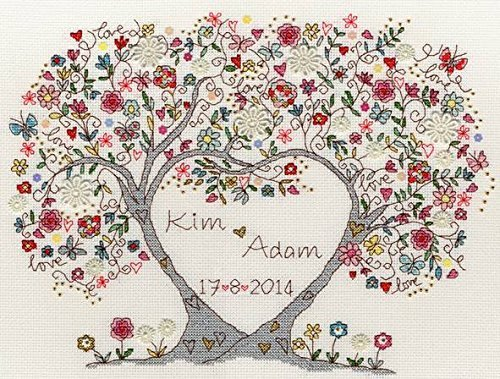 Bothy Threads Love Blossoms Cross Stitch Kit ()