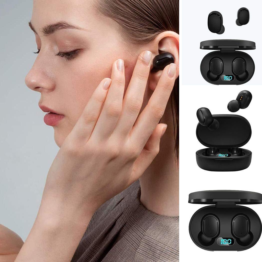 Tinffy LED Digital Display Earphone Wireless Waterproof Bluetooth Stereo Sport Headset Bluetooth Headsets