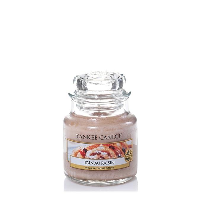 150 opinioni per Yankee candle 1332254E Pain au Raisin Candele in giara piccola, Vetro, Beige,