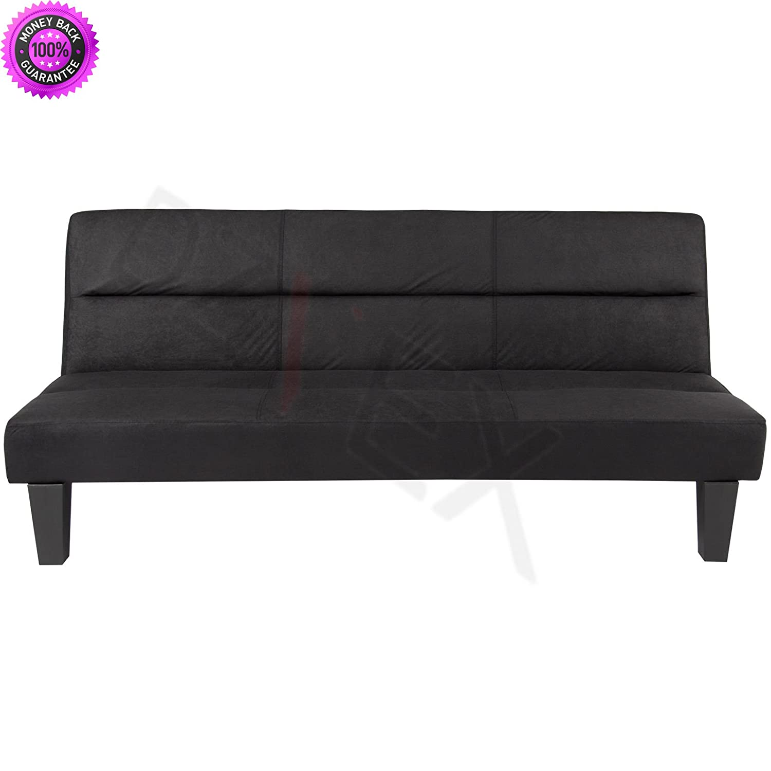 DzVeX Microfiber Futon Folding Couch Sofa (Black) And full size futon fraame and mattress set futon frame and mattress set cheap futons queen size futon frame and mattress set And queen futon