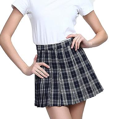 WEIMEITE Falda Corta Harajuku Mujer Nueva Falda Cuadros Coreana ...