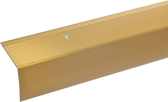 argent * Antid/érapant * Robuste * Montage facile Profil de bord descalier 42x50mm profil de marche en aluminium 100cm Profil de bord acerto 34013 Profil dangle descalier en aluminium
