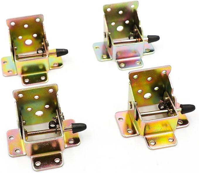 4PCS Folding Table Chair Leg Hinge 90° Self Locking Bracket Hinges Hardware UK