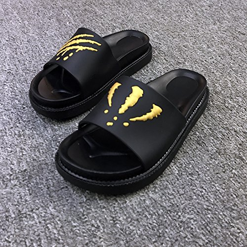wearing creative Personalized slip bottom 38 soft anti couples wear slippers summer men's indoor thick slippers fashion female fankou cool Yellow q5gdPq