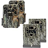 Browning Trail Cameras Recon FHD 10MP Game Cameras + Security Box Cases (2 Each)