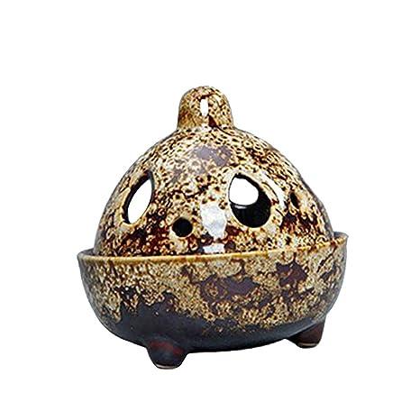 homyl Zen quemador de incienso Cono titular cerámica sándalo aroma pebetero estufa casa casa de té