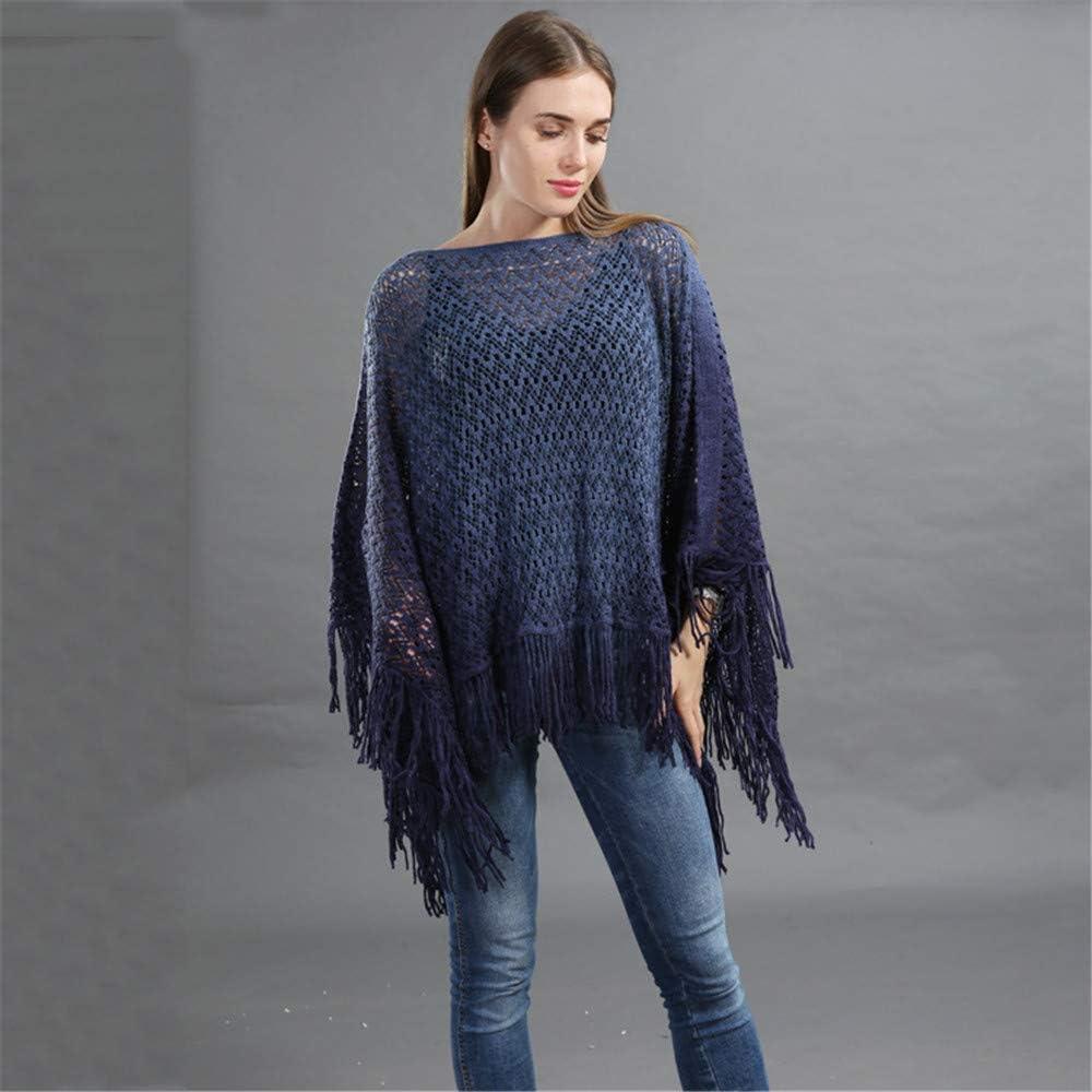 Wenzhihua Ch/âles Pull col roul/é /à col ch/âle pour Femmes Poncho Cape Cape Top Pull Wraps pour Robes de soir/ée Couleur : Grey