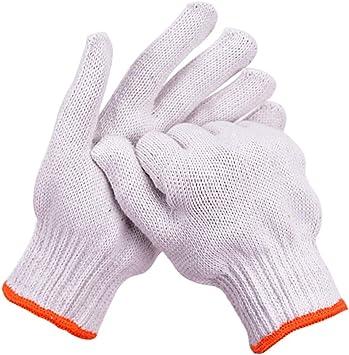 Guantes de trabajo 12 pares de guantes de hilo de algodón Protección antidesgaste Sitio antideslizante: Amazon.es: Bricolaje y herramientas