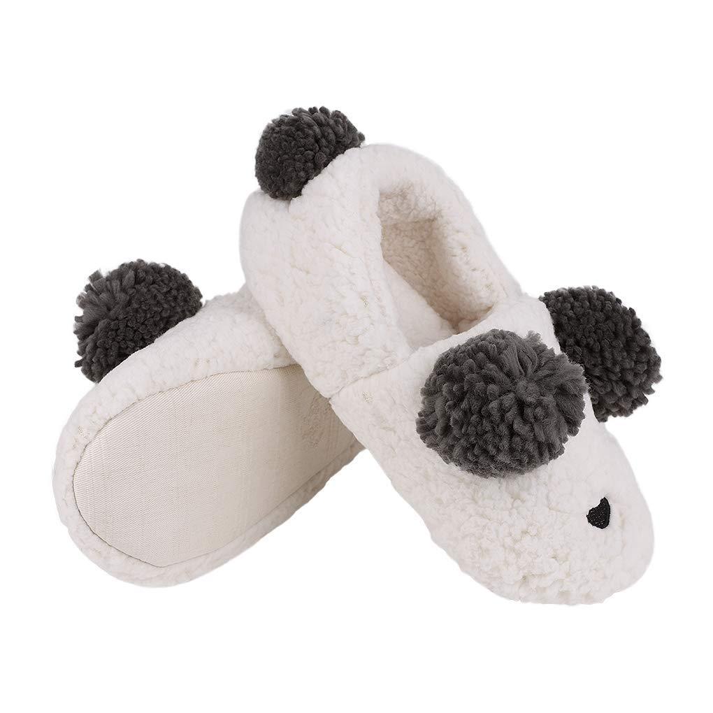 cd52c0977fe1b Women Cute Animal Slipper Cozy Slipper Socks Adult Lady 3D Fuzzy Warm Plush Slipper  Winter Soft Unisex Comfy Memory Foam Ankle Slipper Bootie Non-slip Shoes ...