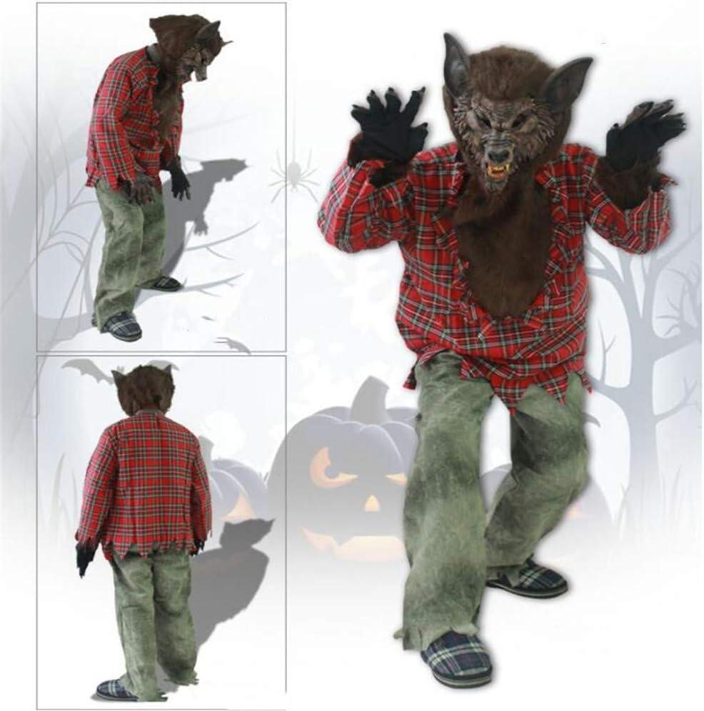 NBRTT Disfraz de Hombre Lobo aullador de Halloween, Conjunto de ...