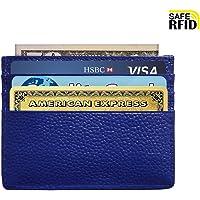 Slim Wallet RFID Blocking Minimalist Wallet Unisex Slim Card Holder With Window
