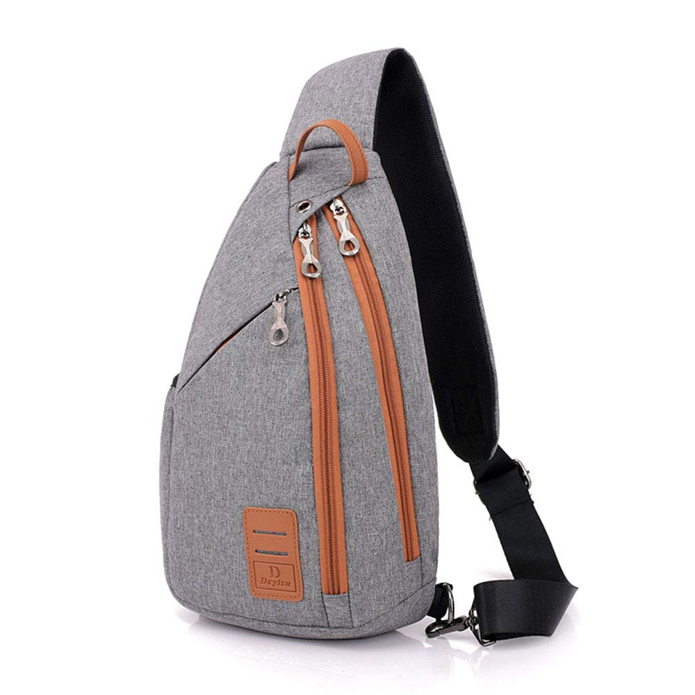 XIAOCUNAN Mens Chest Bag Casual Fashion Solid Color Messenger Bag Polyester Soft Waterproof and Wearable Shoulder Bag