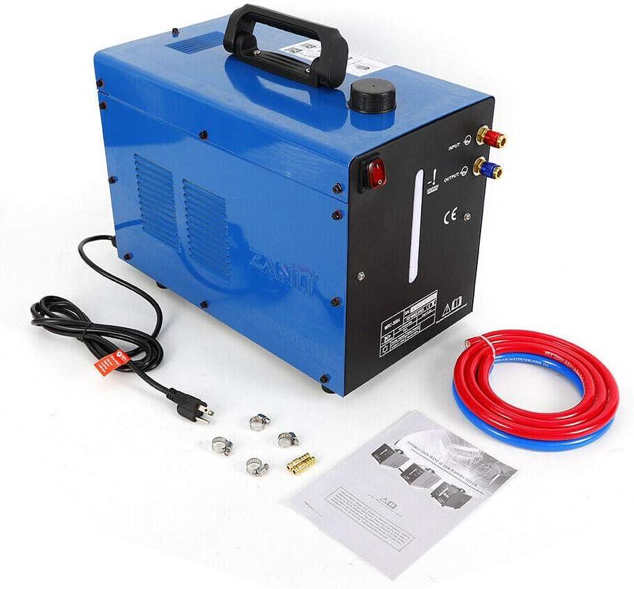 Welder Water Cooler, 10L Tank Miller Cooler TIG Welder Torch Water Cooling Machine WRC-300A 110V (Blue)
