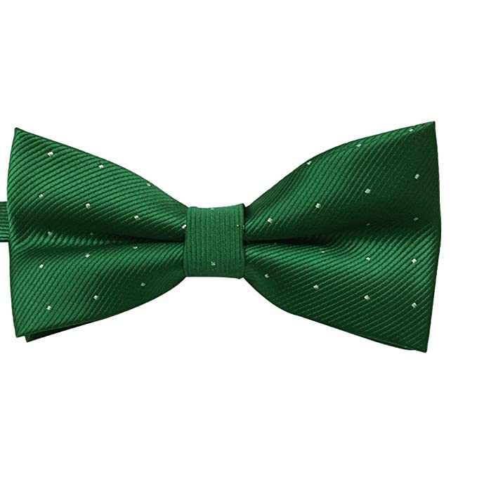 Men's 1920s Style Ties, Neck Ties & Bowties Mens Classic Pre-tied Formal Tuxedo Bow Tie Silvery Dots Bowtie- Many Colors Available $7.99 AT vintagedancer.com