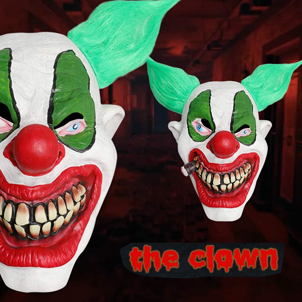 XIAO MO GU Halloween Clown Mask Foam Latex Mask, Deluxe Fonzo The Clown-Adult