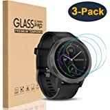 HEYUS [3 Pack] for Garmin Vivoactive 3 Screen Protector, 9H Hardness Scratch Resistant Anti-Bubbles Anti-Fingerprint Tempered Glass Protective Film Cover for Garmin Vivoactive 3