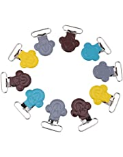 Pacifier Suspender Clips,10Pcs/Lot 25mm Mini Monkey Shaped Suspender Braces Clips Holder for Bibs and Toys