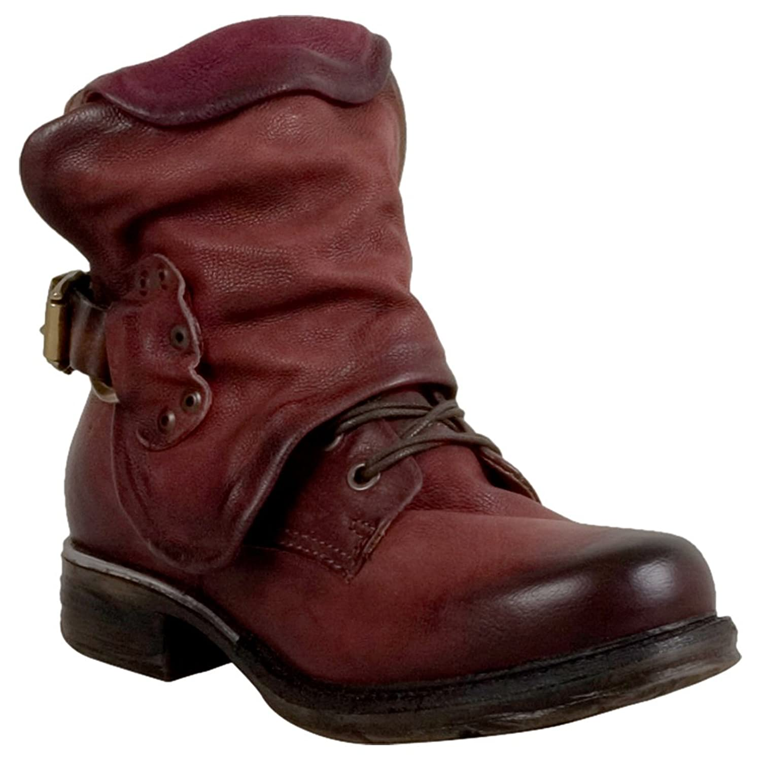 A.S.98 Simon Women's Motorcycle Boot Wine