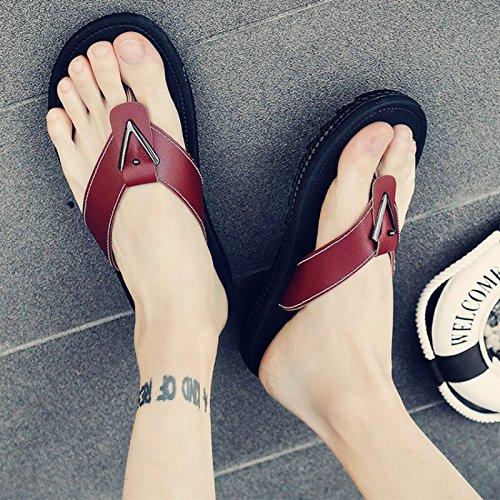 Sandals Men's Shoes Field A Slippers Clip Student and Men Drag Sandals 45 fankou Male Beach Toe Male Brown Summer Casual Tide Drop tIx0gp0