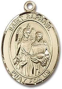 ST. Raphael El Arcángel medalla Oval Colgante artesanal en