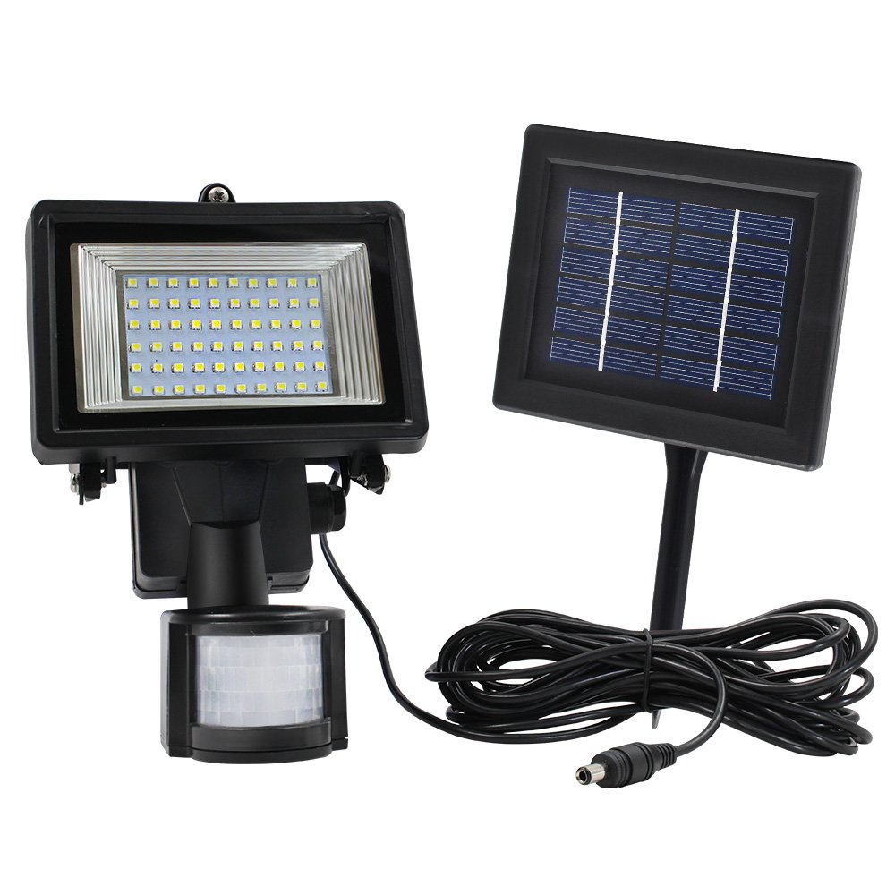 Outdoor Solar PIR Motion Sensor LED Security Light, Motion Activated LED  Flood Light, Solar Rechargeable Wall Light, IP65, Digitally Adjustable TIME  U0026 LUX ...