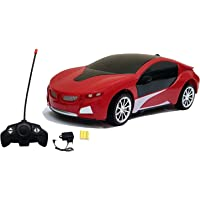 Mqfit R/C Rechargeable Car with Cool 3D Led Lights for Kids (Colors as Per Stock)