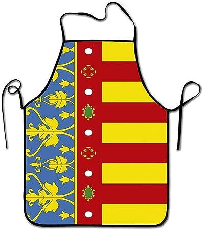 Tienda Katrine España Español Valencia Delantal de diseño único Hombres Hombres Chef Hogar Barbero Cocina Jardinería: Amazon.es: Hogar
