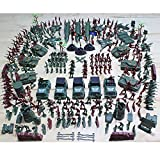 Aissimio 307pcs Toy Soldiers Army Toys For Boys Traditional Green Plastic For Army Military War Games Army Combat Game Toys Soldier Set Plastic