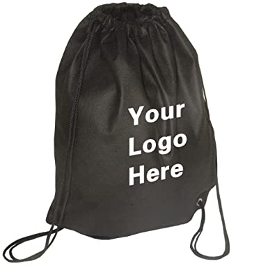 509e3d008f12 Non-Woven Promotional Drawstring Bag String Backpack - 14 quot  w x  17 quot  h-