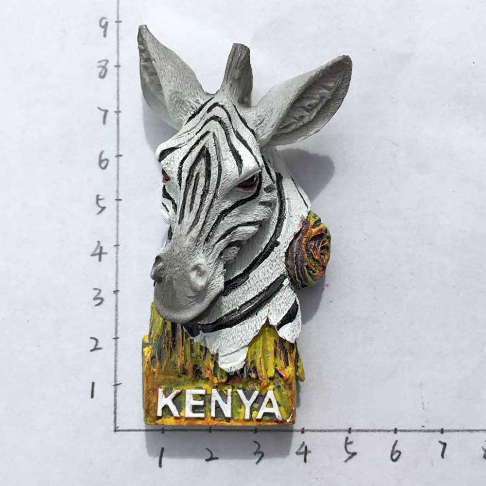 3D Zebra Kenia Refrigerador Imán de Nevera Recuerdos Turísticos ...