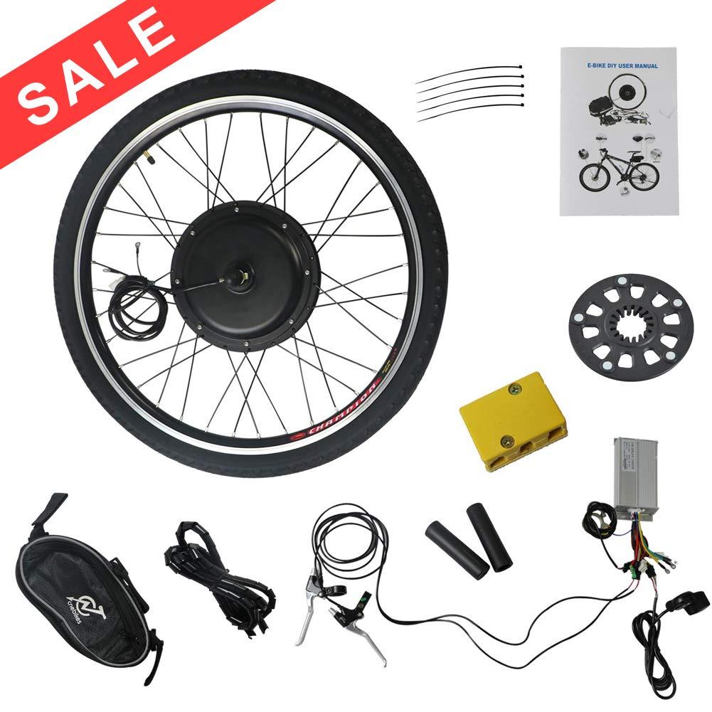 MammyGol Electric E-Bike Motor Kit 26'' Front Wheel 48V 1000W Bicycle Motor Conversion Kit