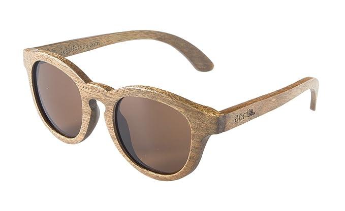 april® Gafas de sol de madera cristal polarizado polarizadas hechas a mano hombre mujer unisex